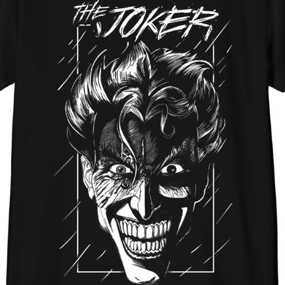 T-shirt Enfant Joker In The Rain Noir