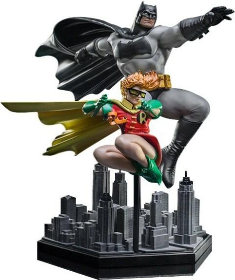 Batman et Robin statue Dark Knight Returns Iron Studios Art Scale Deluxe 1/10