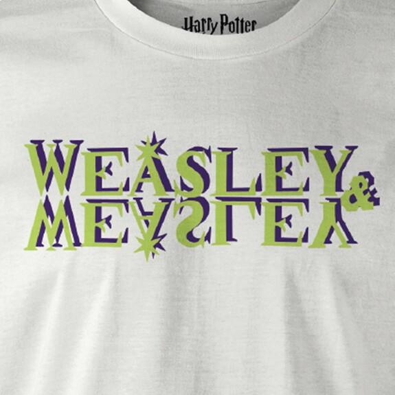 T-shirt blanc Weasley & Weasley Logo