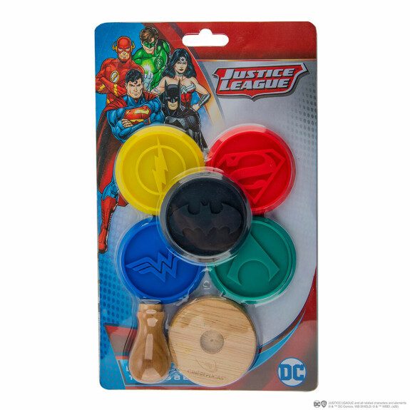 Lot de 5 tampons silicone pour cookies Justice League