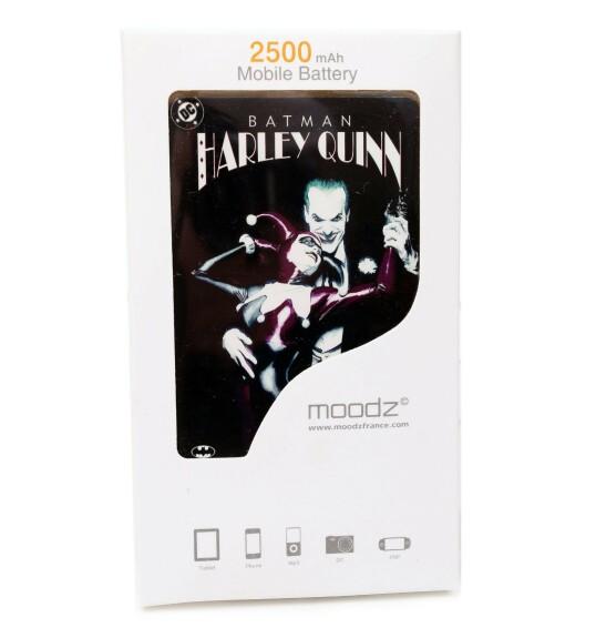 Batterie externe Joker Harley Quinn Android et IPhone 2500mAh