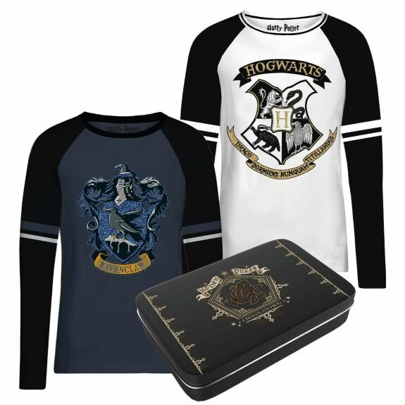 Pack de 2 T-shirts Femme Serdaigle et Poudlard