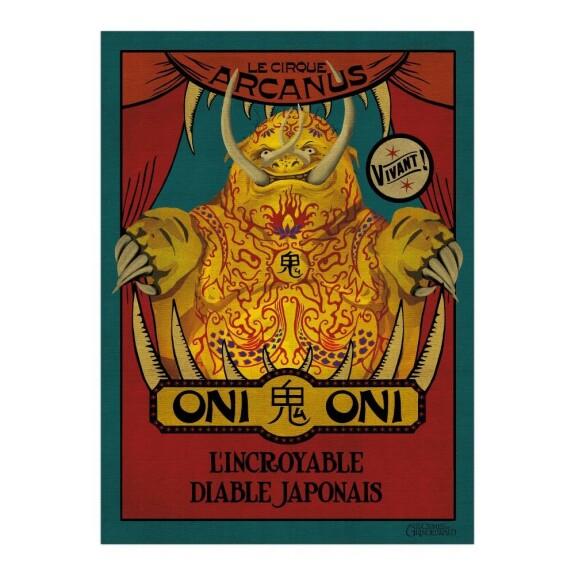 Poster affiche Oni Oni du Cirque Arcanus MinaLima