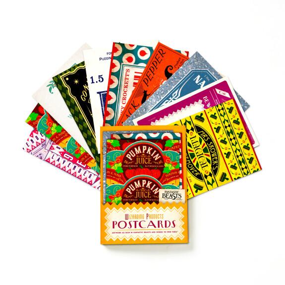 Lot de 20 cartes postales Produits pour Sorciers MinaLima