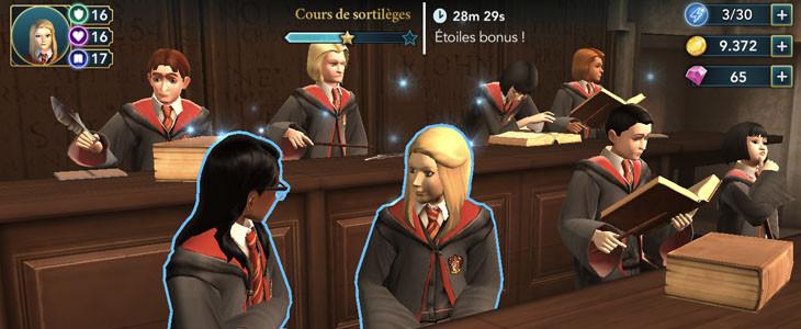 La jauge d'énergie et les actions dans Harry Potter : Hogwarts Mystery