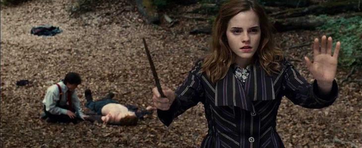 Hermione et sa baguette magique