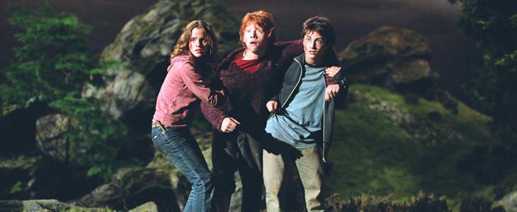 Emma Watson, Rupert Grint et Daniel Radcliffe dans Harry Potter et le Prisonnier d'Azkaban