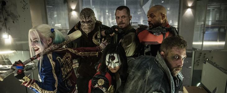 Margot Robbie, Will Smith et Joel Kinnaman dans Suicide Squad