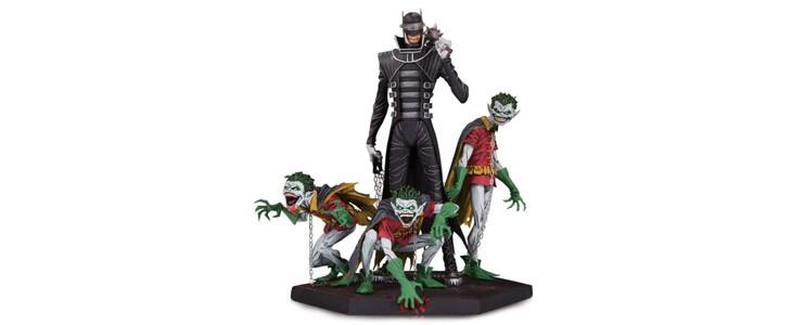 Retrouvez cette figurine du Batman qui rit sur la boutique officielle de l'univers DC.