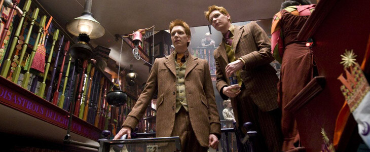 Les jumeaux Weasley ont ouvert leur propre boutique sur le Chemin de Traverse.
