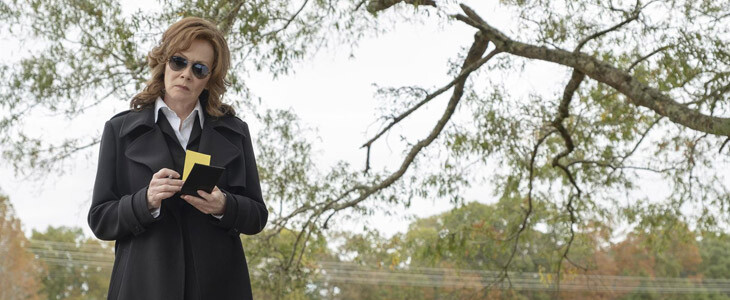 Jean Smart est Laurie Blake, anciennement justicière sous le pseudo Spectre Soyeux
