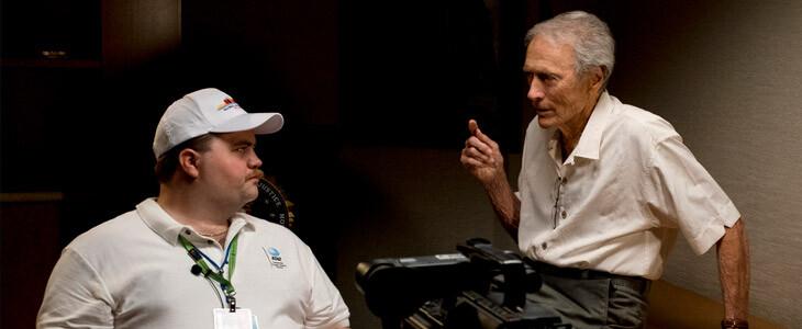 Paul Walter Hauser et Clint Eastwood sur le tournage du Cas Richard Jewell