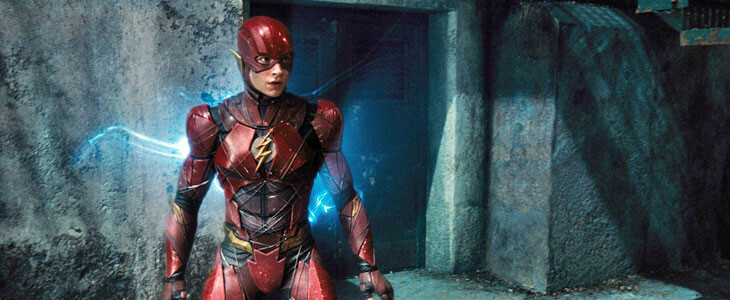 Flash (Ezra Miller) dans Justice League