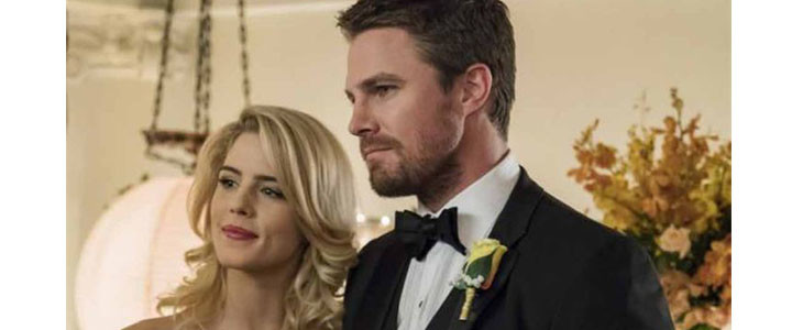 Emily Bett Rickards et Stephen Amell - Arrow