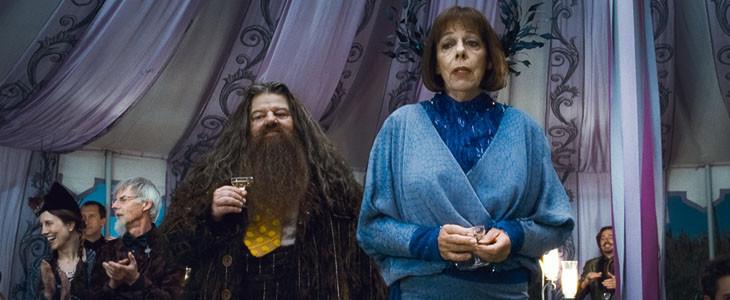Hagrid et la directrice de Beauxbâtons