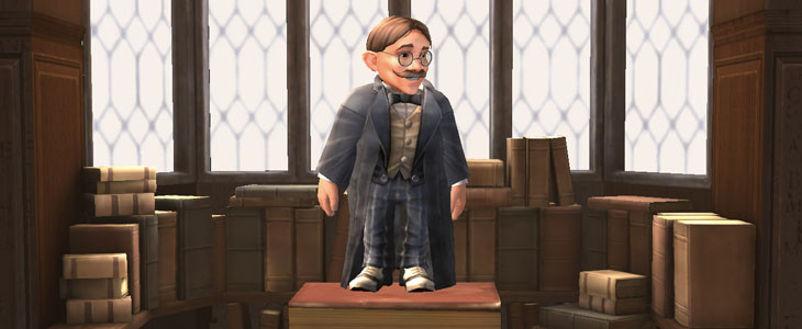 Les cours de sortilèges avec Filius Flitwick dans Harry Potter : Hogwarts Mystery