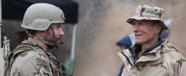 Bradley Cooper et Clint Eastwood, dans American Sniper.