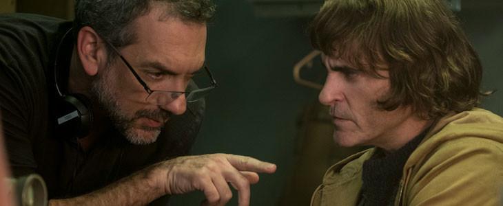 Todd Phillips et Joaquin Phoenix, sur le tournage de Joker.