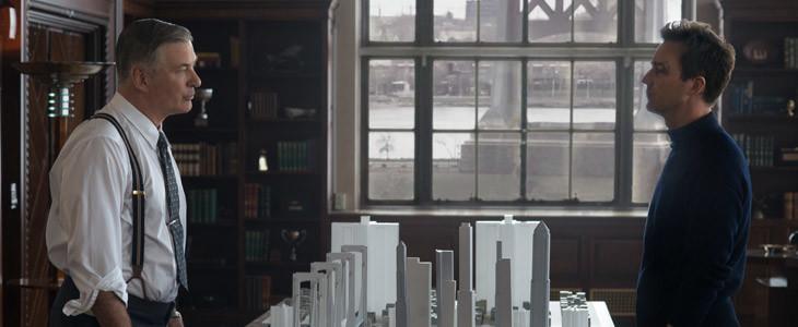 Alec Baldwin et Edward Norton dans Brooklyn Affairs