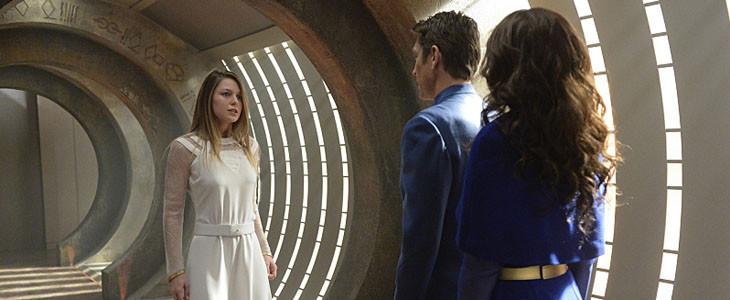 Supergirl et ses parents dans la série