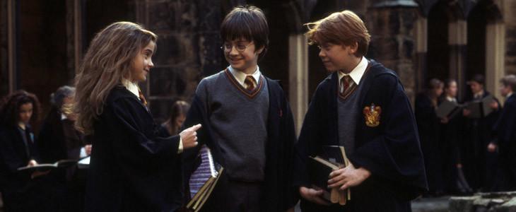 Emma Watson, Daniel Radcliffe et Rupert Grint dans Harry Potter à l'école des sorciers