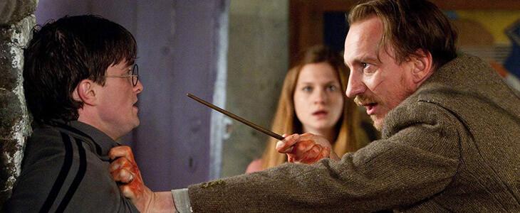 Daniel Radcliffe et David Thewlis dans Harry Potter et les Reliques de la Mort