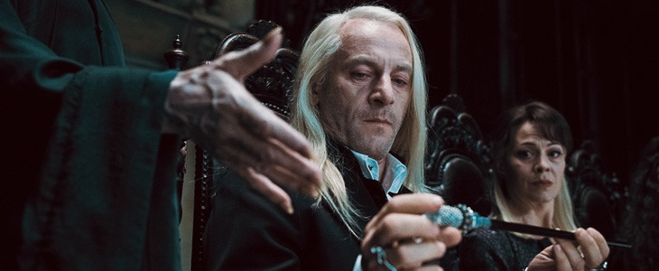 Lucius Malefoy et sa baguette