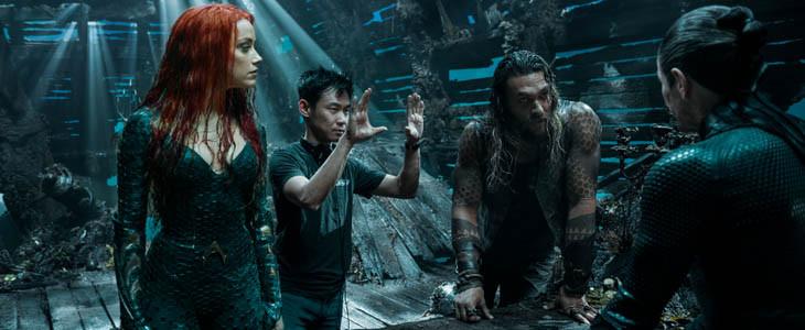 Mera et Aquaman dans l'océan