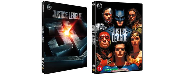 DVD et Blu-ray de Justice League