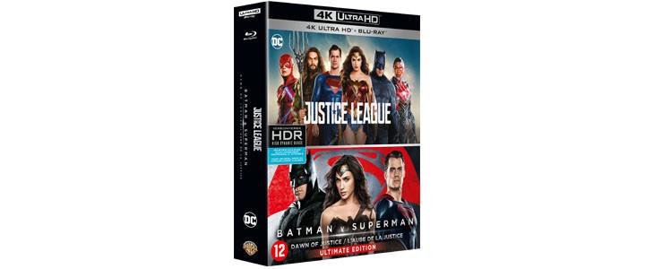 Coffret 4K Justice League et Batman v Superman