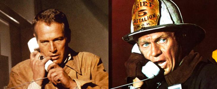 Paul newman et Steve MacQueen dans La Tour infernale