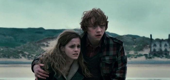 Hermione Granger et Ron Weasley dans Harry Potter et les Reliques de la mort