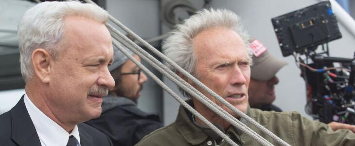 Eastwood sur le tournage de Sully.