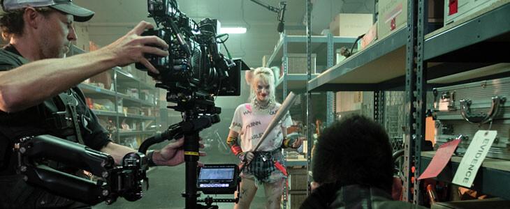 Margot Robbie sur le plateau de Birds of Prey