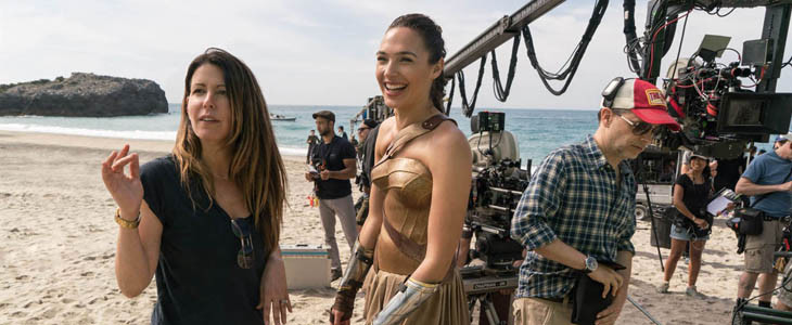 Patty Jenkins sur le tournage de Wonder Woman