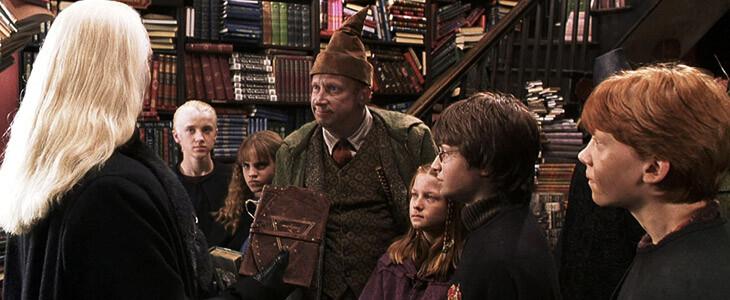 La famille Weasley dans la librairie Fleury & Bott