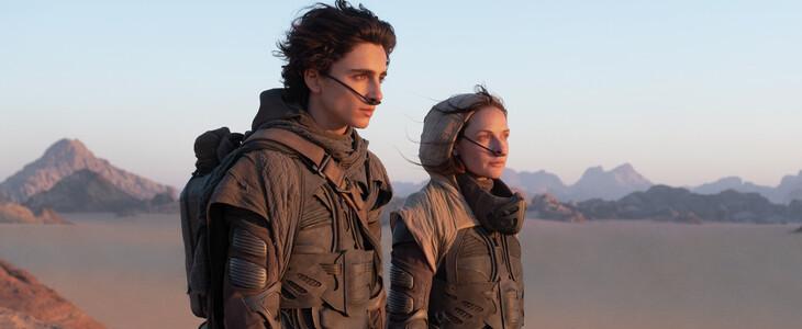 Rebecca Ferguson et Timothée Chalamet, dans Dune.