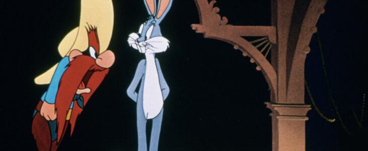 Sam le pirate face à Bugs Bunny