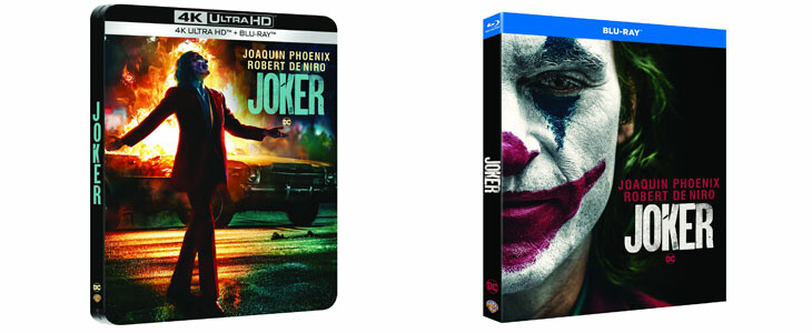 Joker sort en DVD, Blu-Ray, Steelbook.