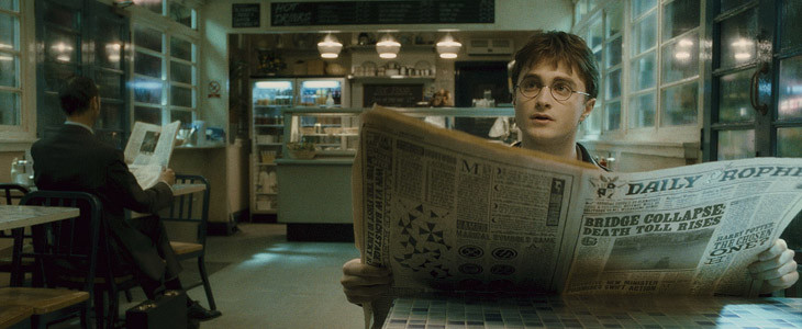 Daniel Radcliffe dans Harry Potter et le Prince de Sang-Mêlé