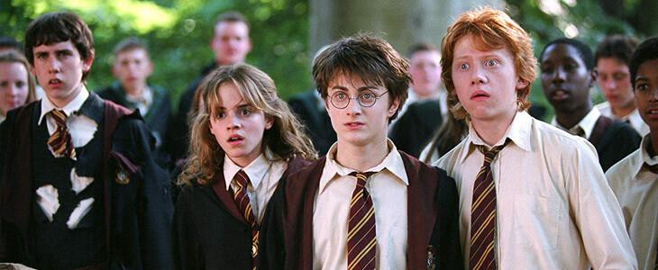Emma Watson, Daniel Radcliffe et Rupert Grint dans Harry Potter et le Prisonnier d'Azkaban