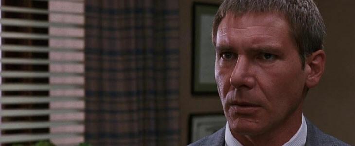 Harrison Ford dans le rôle de Rusty Sabich, dans Présumé Innocent