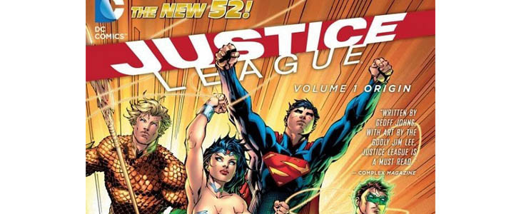 La couverture du New 52 Justice League
