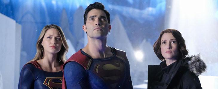 Tyler Hoechlin et Melissa Besnoit - Supergirl
