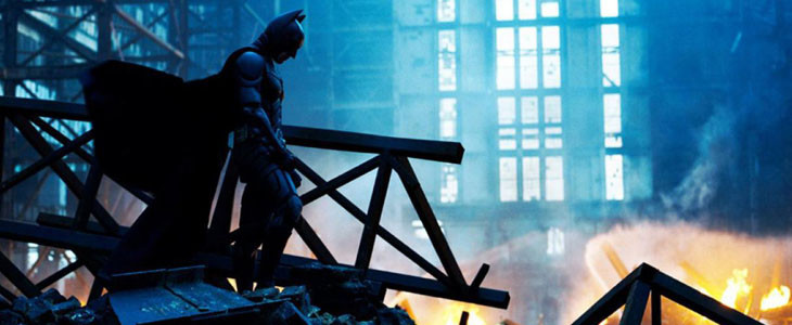 Christian Bale dans le rôle de Batman dans The Dark Knight