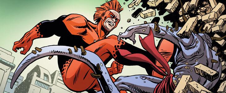 Albert Rothstein prend d'abord l'identité secrète de Nuklon dans les comics.