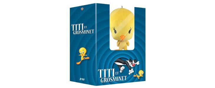 Le coffret Titi & Grosminet + Peluche