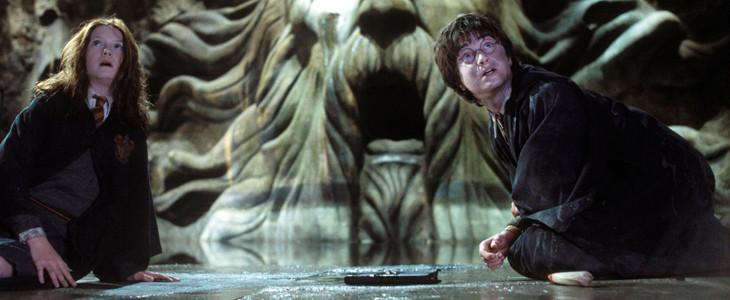 Bonnie Wright et Daniel Radcliffe dans Harry Potter et la Chambre des Secrets