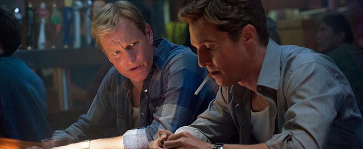 Martin Hart et Rust Cohle dans True Detective