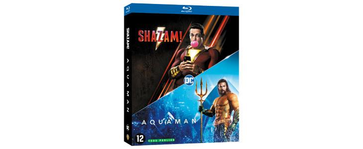 Le coffret Aquaman/Shazam